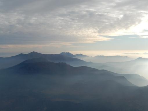Los Andes, desde un vuelo Santiago - Buenos Aires, invierno 2013