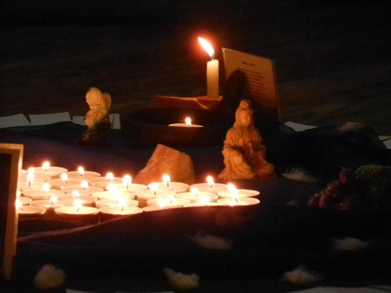 Parte del altar del Ritual de Invierno en Mercedes, con Kwan Yin, Madre del amor y la compasión en Oriente