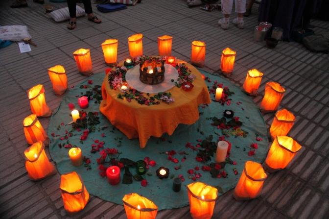 Altar Ritual Cierre 2013 y Bienvenida al Sol