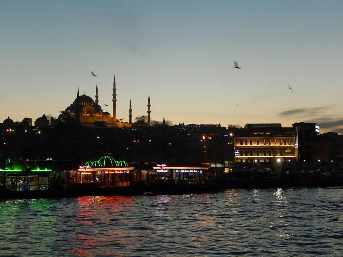 Desde el puente Galata, Estambul, Turquía