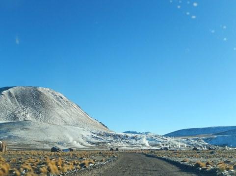 Norte de Chile, saliendo de los Geisers del Tatio