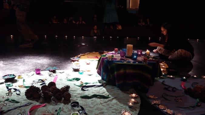 terminando el altar