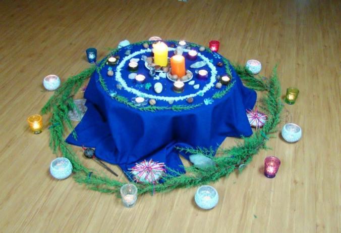 Nuestro altar lunar en Centro Médico Vichuquén, Curicó